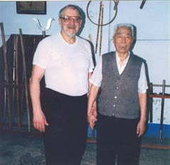 Master Wasil with Grandmaster Gao in Taiwan